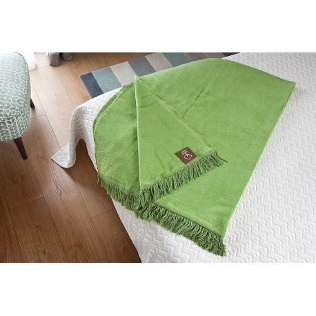 Koc Bawełniany Zielony